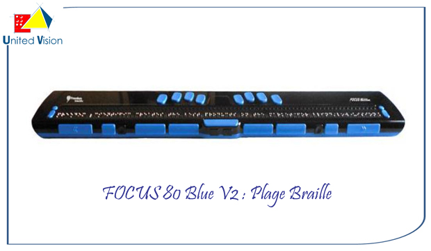 focus80 blue v2 80 caracteres : plage Braille