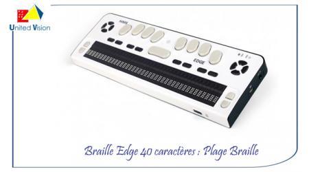 Braille Edge 40 - Plage braille